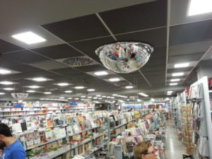 Pannelli LED quadrati, Libreria Borri Books a Roma