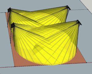 Progetto illuminotecnico per illuminazione LED, Tennis Team Vianello