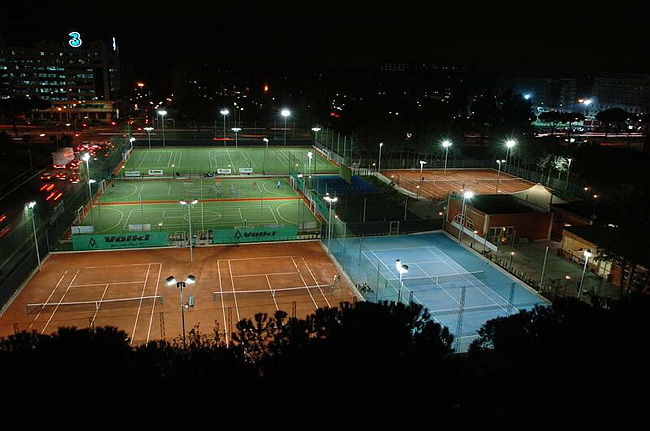 Illuminazione LED Tennis Team Vianello